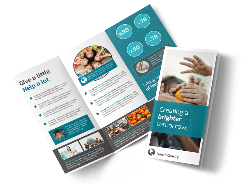 Bright Future Charity Tri-Fold Brochure Template Preview 1