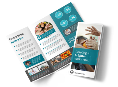 Bright Future Charity Tri-Fold Brochure Template preview