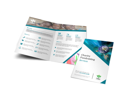 Charity Fundraising Bi-Fold Brochure Template