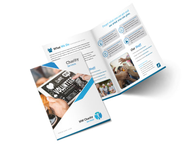 Clean Charity Bi-Fold Brochure Template