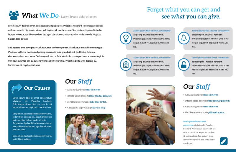 Clean Charity Bi-Fold Brochure Template Preview 3