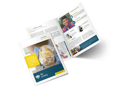 Friendly Charity Bi-Fold Brochure Template