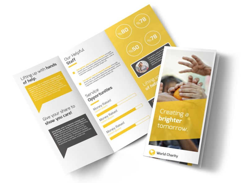 Awesome Charity Tri-Fold Brochure Template Preview 4
