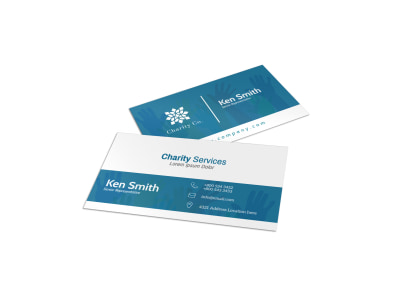 Charity Services Business Card Template