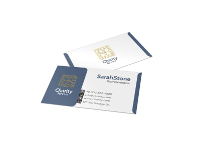 Stone Charity Business Card Template