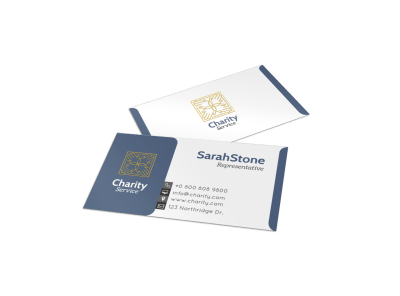 Charity Business Card Templates Template Preview