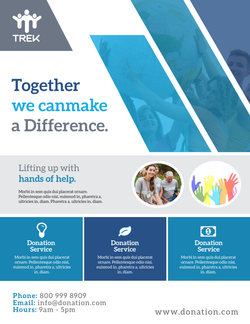 Awesome Donation Flyer Template Preview 2