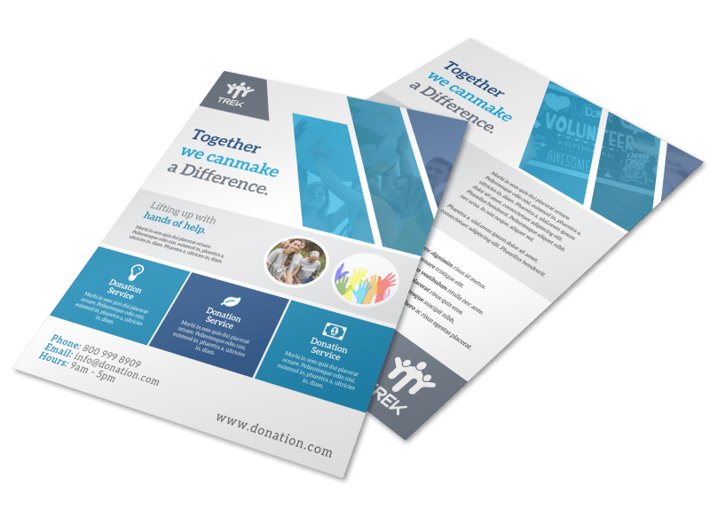 Awesome Donation Flyer Template Preview 1