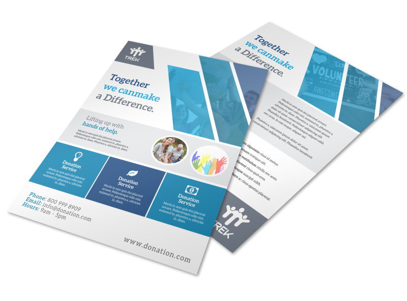 Awesome Donation Flyer Template Preview 4