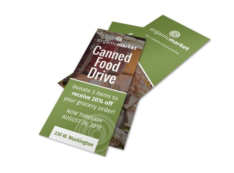 Canned Food Drive Flyer Template Preview 1