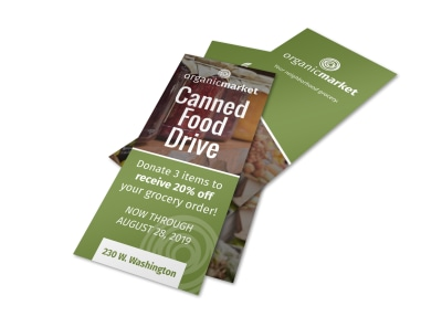 Canned Food Drive Flyer Template preview