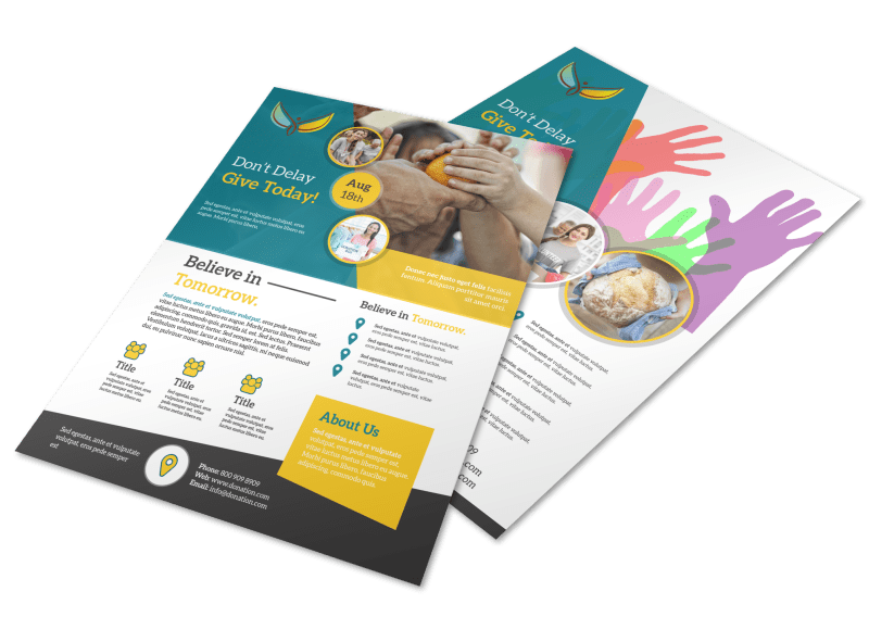 Beautiful Donation Flyer Template Preview 1
