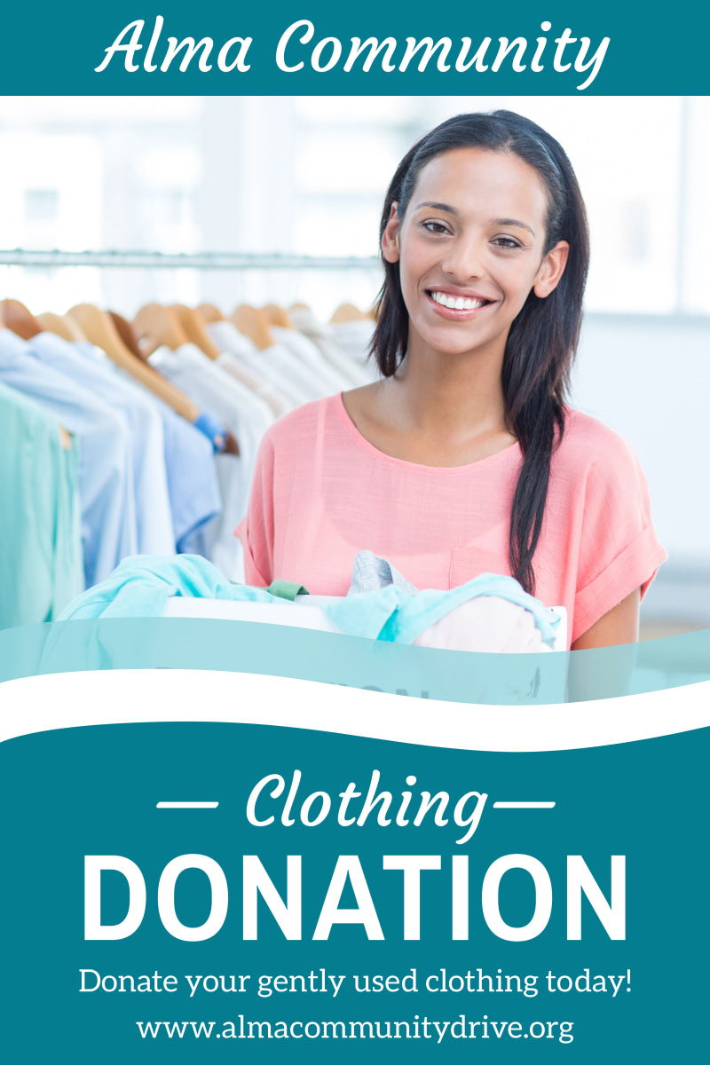 Clothing Donation Poster Template Preview 2