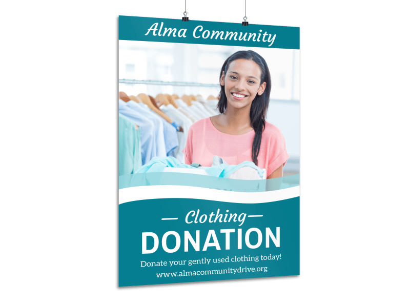 Clothing Donation Poster Template Preview 1