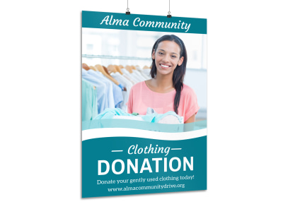 Clothing Donation Poster Template preview