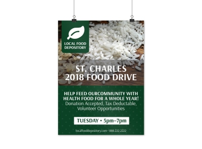 Food Drive Poster Template preview
