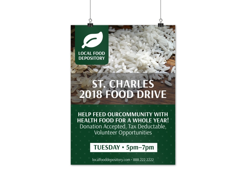 Food Drive Poster Template Preview 3