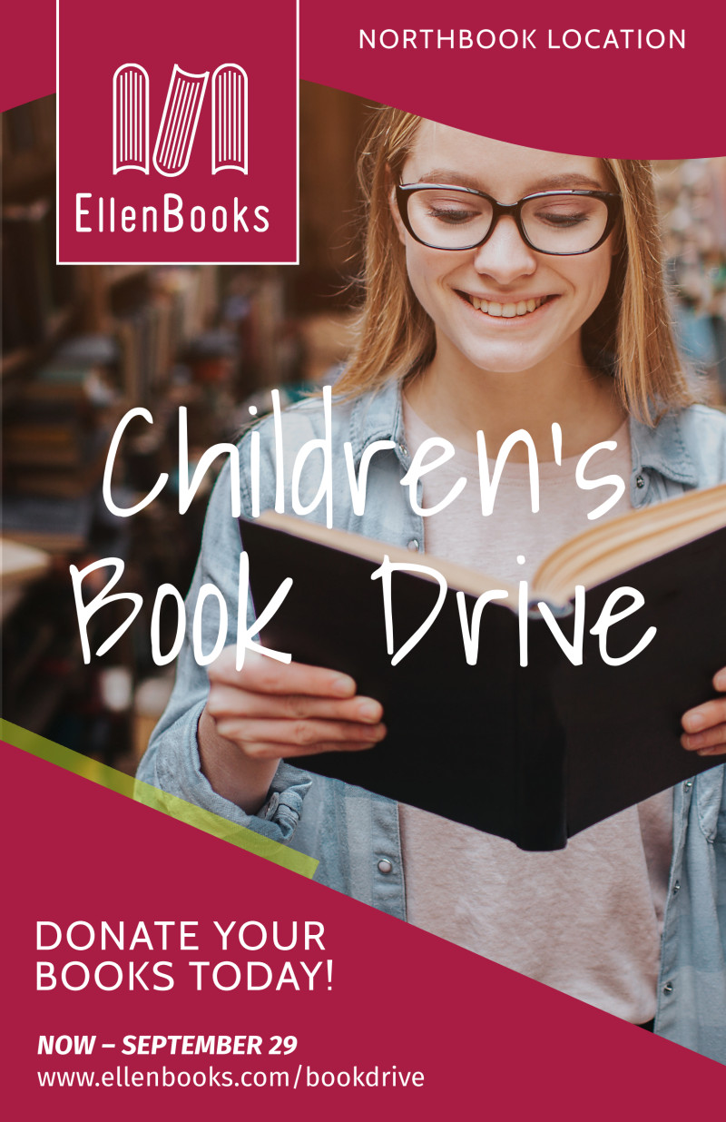 Book Drive Donation Poster Template Preview 2