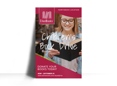 Book Drive Donation Poster Template preview