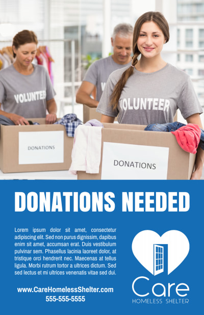 Donation Box Poster Template Preview 1