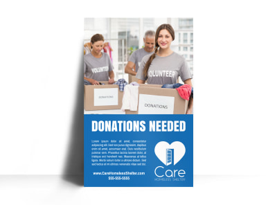 Donation Box Poster Template preview