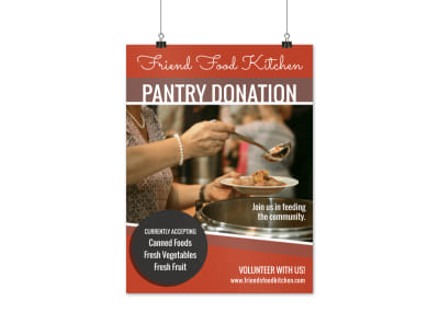 Pantry Donation Poster Template preview