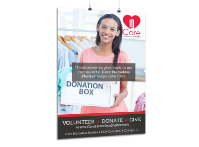 Volunteer Donation Poster Template preview