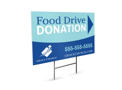 Food Drive Donation Yard Sign Template preview