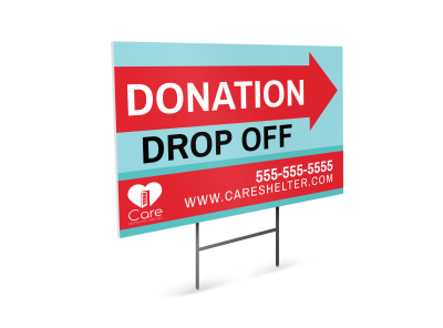 Donation Drop Off Yard Sign Template preview