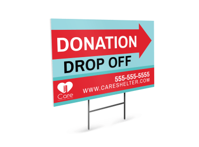 Donation Yard Signs Template Preview