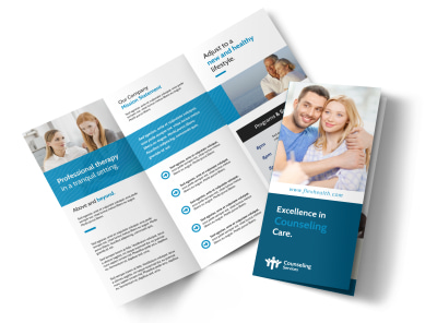 Excellent Counseling Tri-Fold Brochure Template preview