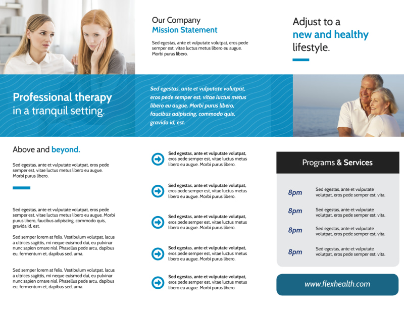Excellent Counseling Tri-Fold Brochure Template Preview 3