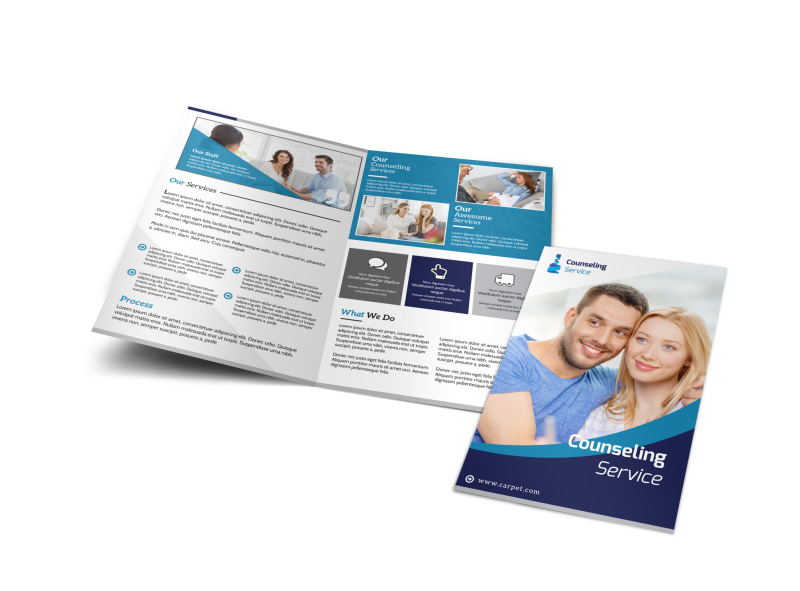 Counseling Service Bi-Fold Brochure Template Preview 4
