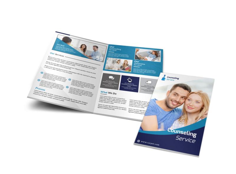 Counseling Service Bi-Fold Brochure Template