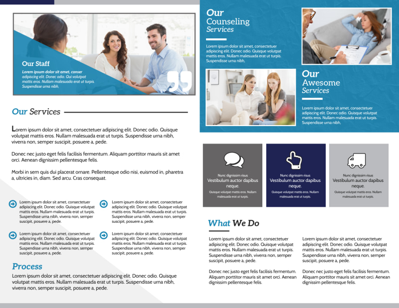 Counseling Service Bi-Fold Brochure Template Preview 3