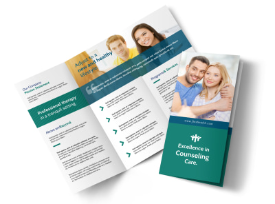 Happy Counseling Tri-Fold Brochure Template