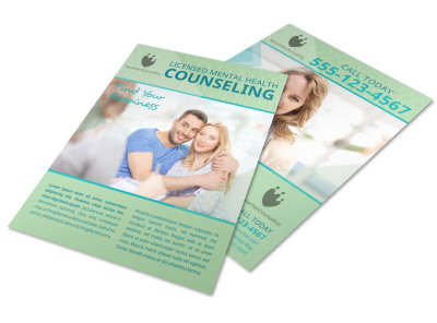 Licensed Mental Health Counseling Flyer Template preview