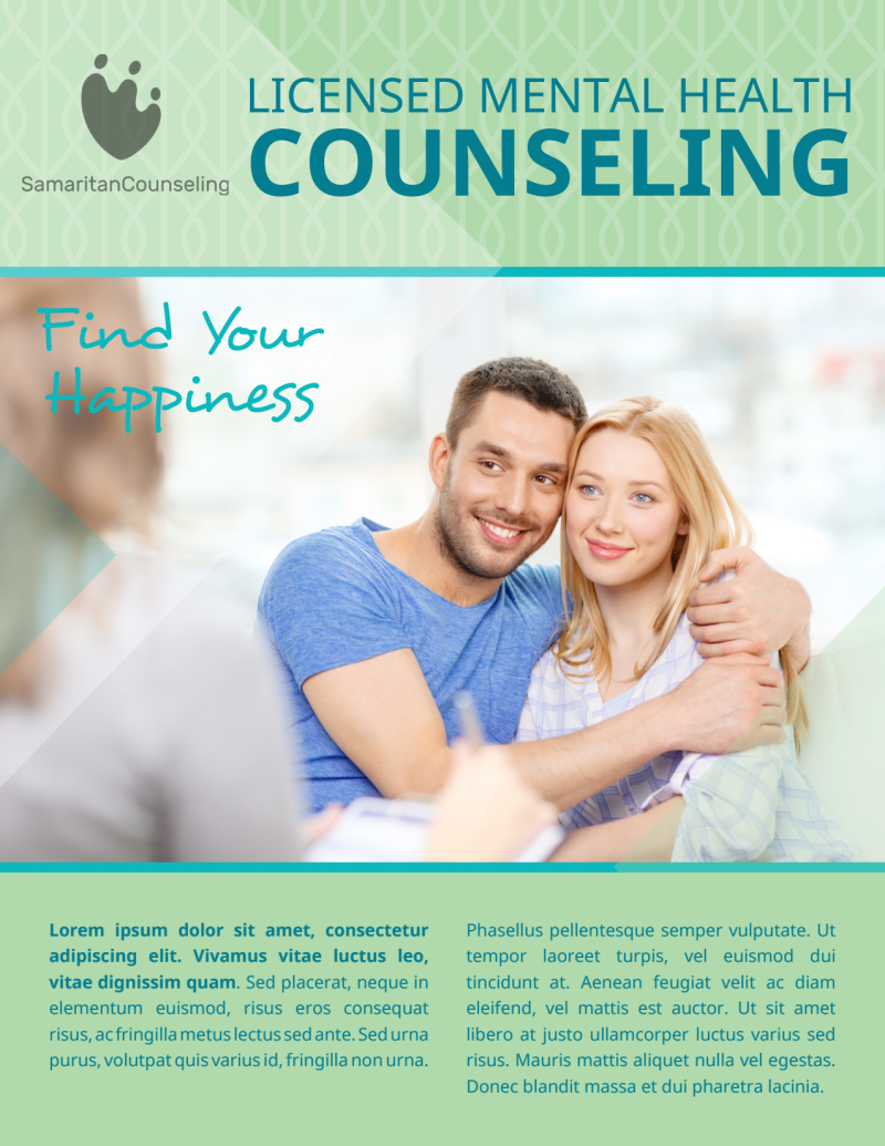 Licensed Mental Health Counseling Flyer Template Preview 2