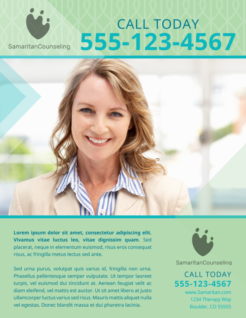 Licensed Mental Health Counseling Flyer Template Preview 3