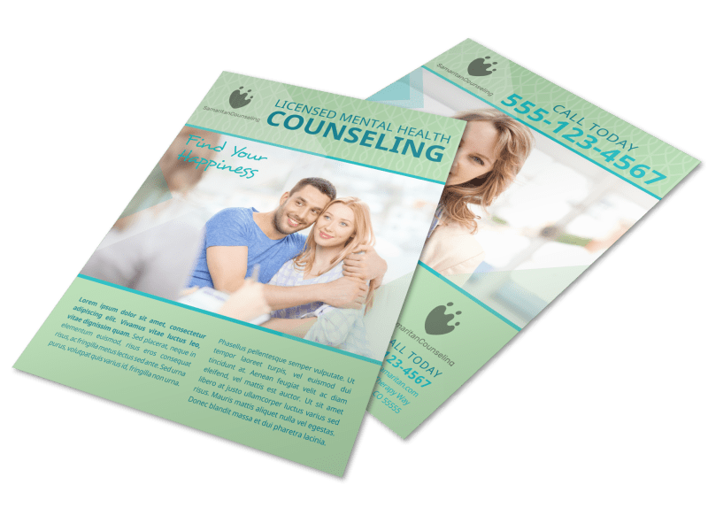 Licensed Mental Health Counseling Flyer Template Preview 1