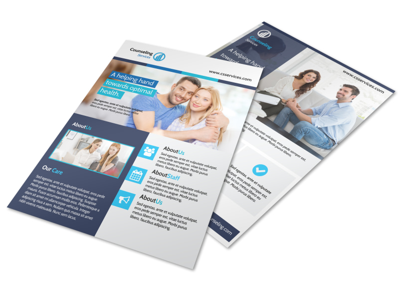 Blue Counseling Flyer Template
