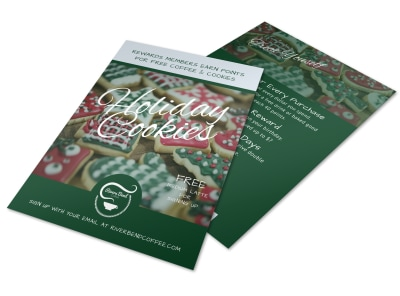 Christmas Holiday Cookie Flyer Template preview