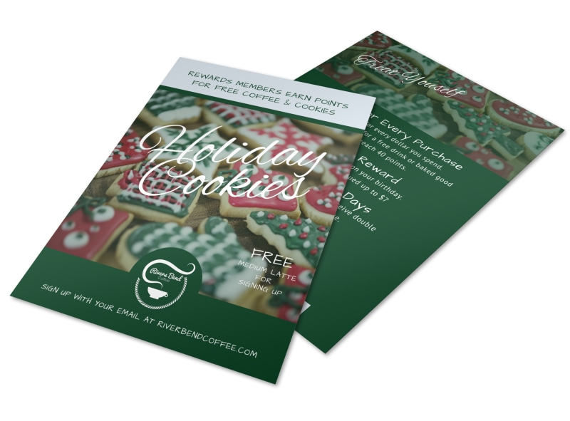 Christmas Holiday Cookie Flyer Template Preview 4