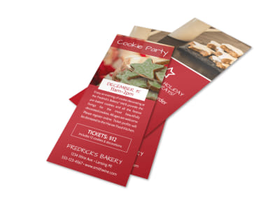 Christmas Cookie Event Flyer Template preview