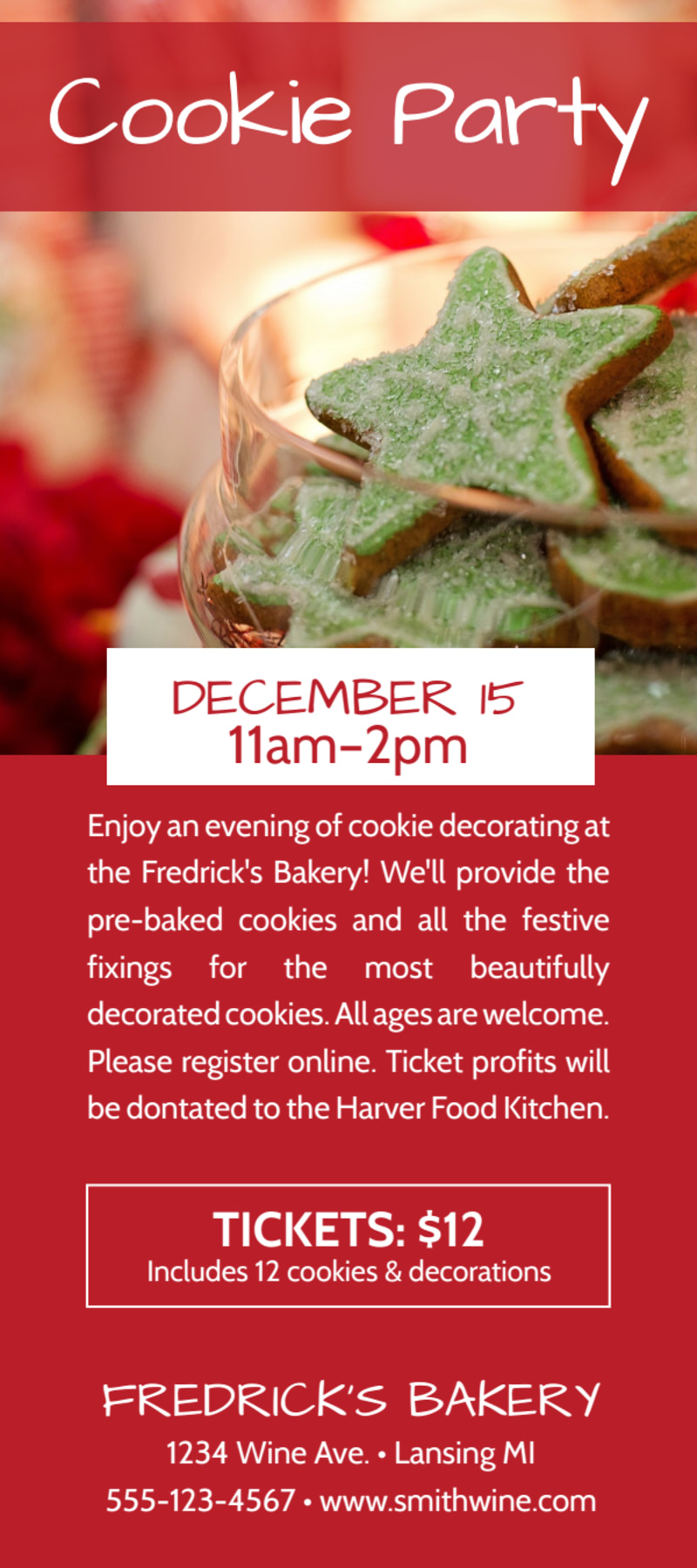Christmas Cookie Event Flyer Template Preview 2