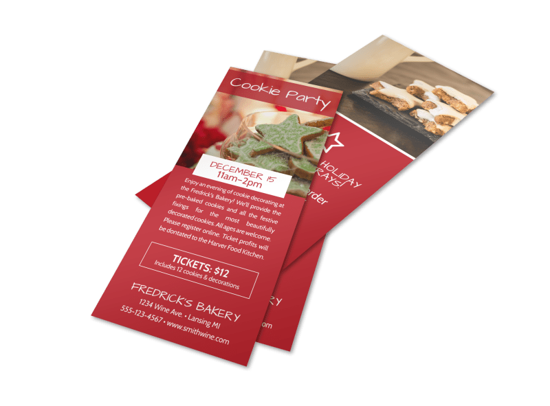 Christmas Cookie Event Flyer Template Preview 1