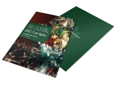 Tree Lighting Flyer Template preview