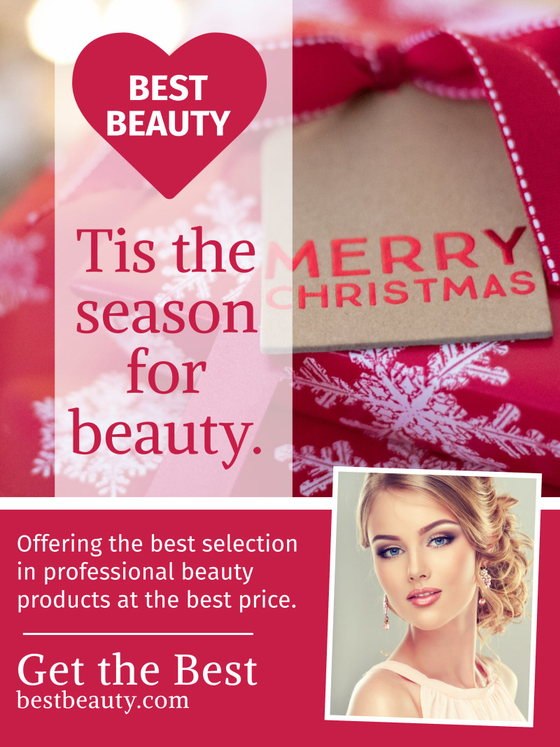 Christmas Beauty Poster Template Preview 2