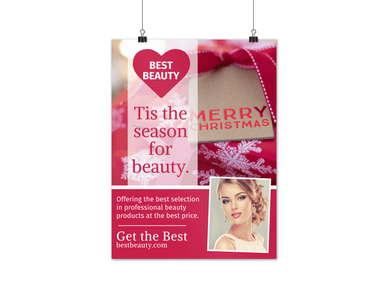 Christmas Beauty Poster Template Preview 1