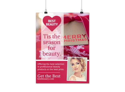Christmas Beauty Poster Template